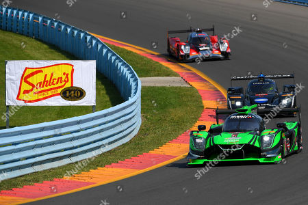 The #2 Tequila Patron ESM, Nissan DPi driven by Scott Sharp, of the United States, Ryan Dalziel, of Great Britain and Olivier Pla, of France during the IMSA WeatherTech SportsCar Championship Sahlen's Six Hours of The Glen on at Watkins Glen International in Watkins Glen, New York