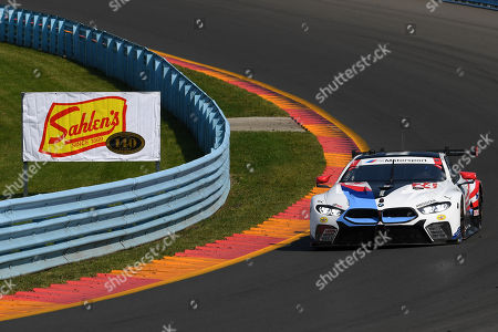 The #24 BMW Team RLL, BMW M8 GTW driven by Jesse Krohn, of Finland, John Edwards, of the United States during the IMSA WeatherTech SportsCar Championship Sahlen's Six Hours of The Glen on at Watkins Glen International in Watkins Glen, New York