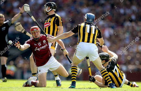 Galway vs Kilkenny. Galway's Conor Whelan with Tj Reid and Enda Morrissey of Kilkenny