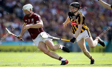 Galway vs Kilkenny. Galway's Joe Canning and Enda Morrissey of Kilkenny