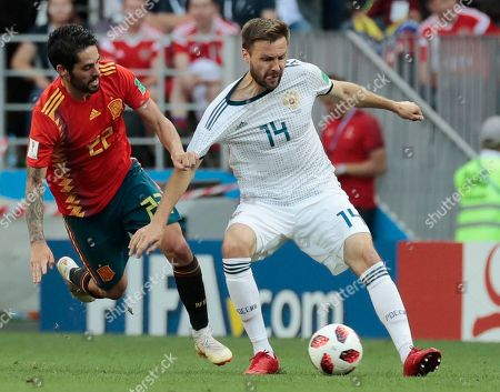 Editorial image of Russia Soccer WCup Spain Russia, Moscow, Russian Federation - 01 Jul 2018