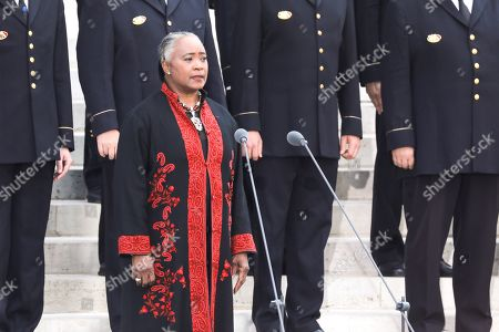US opera singer Barbara Hendricks performs during the burial ceremony for former French politician and Holocaust survivor Simone Veil and her husband Antoine Veil outside of the Pantheon in Paris, France, 01 July 2018. Former Health Minister, Simone Veil, who passed away on 30 June 2017 became president of the European Parliament and one of France's most revered politicians by advocating the 1975 law legalising abortion in France. She will be one of only the fiive woman to be buried at the monument to France's dignitaries, where she will be laid to rest at the Pantheon with her husband Antoine, a high-ranking civil servant who died in 2013.