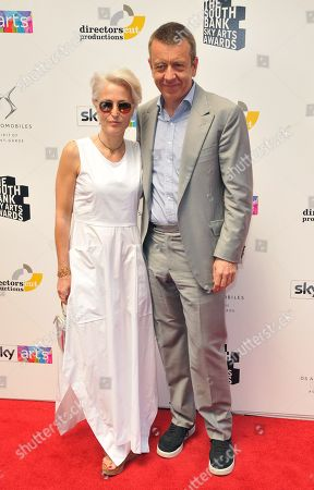 Stock Picture of Gillian Anderson and Peter Morgan
