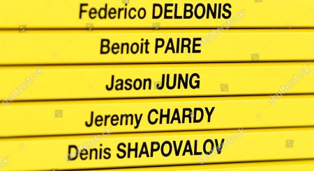 Jason Jung who is the lucky loser following Andy Murray's withdrawal is listed on the players board