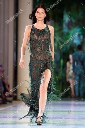 Editorial photo of Azzaro - Runway - Paris Fashion Week Haute Couture F/W 2018/19, France - 01 Jul 2018