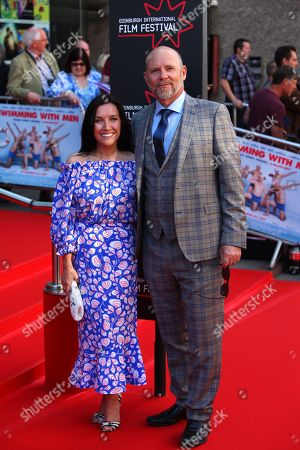 Stock Image of Jason Connery with partner Fiona