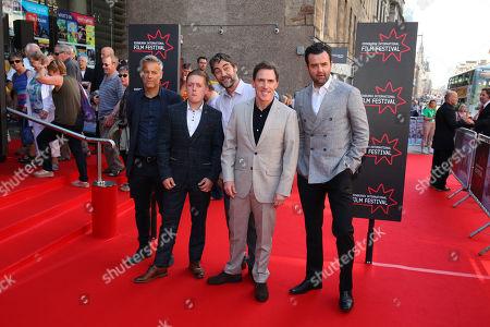 Rob Brydon centre, left Rupert Graves, Thomas Turgoose, Nathaniel Parker, right Daniel Mays.