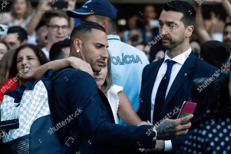 Portugal's Ricardo Quaresma takes a picture with a fan at his arrival at Humberto Delgado airport in Lisbon, Portugal, 01 July 2018. After defeat against Uruguay, the Portugal national soccer team was eliminated from the FIFA World Cup 2018 round of 16.