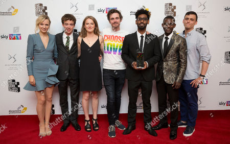 Emily Berrington with cast of The Jungle