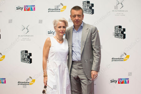 Stock Image of Gillian Anderson & partner Peter Morgan