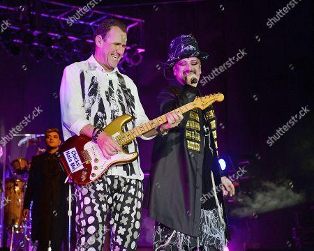 Editorial photo of Culture Club in concert at The Pompano Beach Amphitheater, Pompano Beach, Florida, USA - 01 Jul 2018