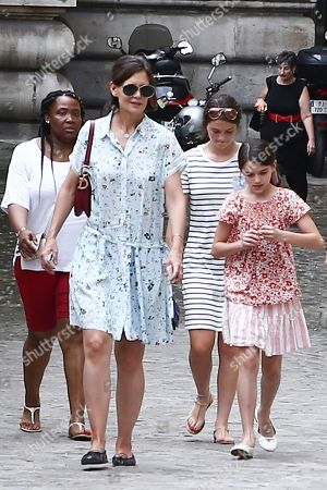 Editorial picture of Katie Holmes and Suri Cruise out and about, Paris, France - 01 Jul 2018