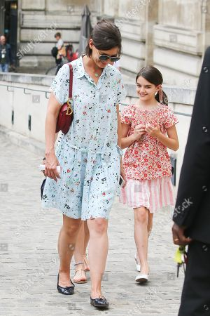 Editorial image of Katie Holmes and Suri Cruise out and about, Paris, France - 01 Jul 2018