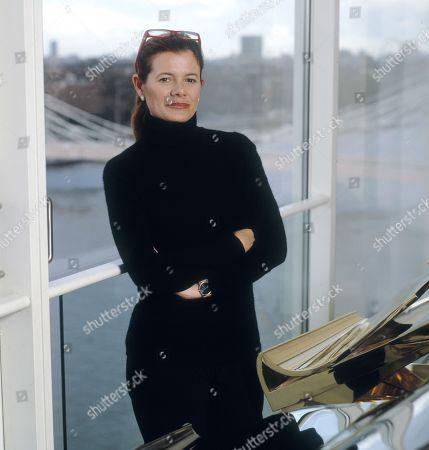 Lady Elena Ochoa Foster in her penthouse office by Battersea Bridge, London, UK