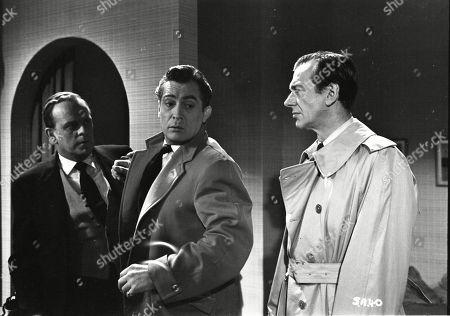 Lloyd Lamble (Waller), Patrick Holt (Paul Pearson), Valentine Dyall (Inspector Kayes)