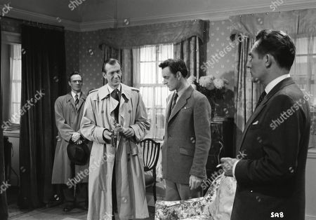 Brown Derby (Sergeant Roberts), Valentine Dyall (Inspector Kayes), Andrew Keir (Sandy Thorpe), Patrick Holt (Paul Pearson)