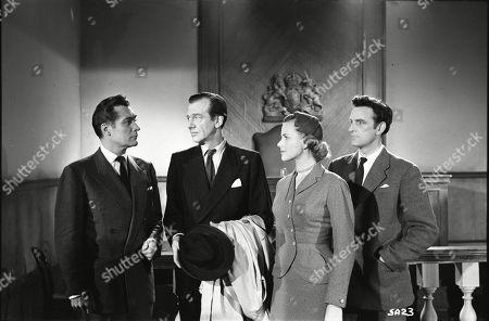 Patrick Holt (Paul Pearson), Valentine Dyall (Inspector Kayes), Honor Blackman (Lynn Pearson), Andrew Keir (Sandy Thorpe)