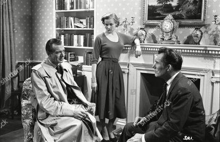 Valentine Dyall (Inspector Kayes), Honor Blackman (Lynn Pearson), Patrick Holt (Paul Pearson)