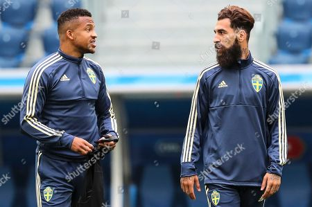 Stock Picture of Martin Olsson and Jimmy Durmaz