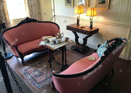 This photo shows an interior sitting room at Hildene, the summer home of Robert Todd Lincoln, son of the former president, in Manchester, Vt. The room overlooks the formal garden and the Green and Taconic mountains. In its 40th year as a private museum, Hildene, is working to preserve Lincoln history while attempting to modernize the experience for visitors and students
