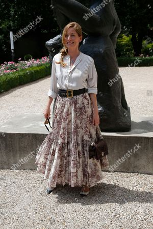 Lucie de la Falaise poses during a photocall before the presentation of Dior Haute Couture Fall-Winter 2018/2019 fashion collection, in Paris