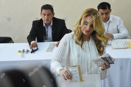 Angelica Rivera is seen voting during Mexico's Presidential Elections on July 01, 2018 in Mexico City, Mexico