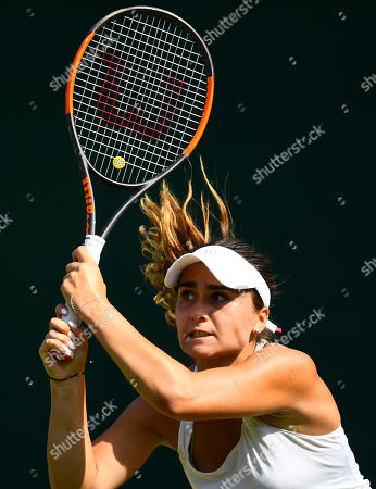 Stock Photo of Gabriella Taylor in action during her Ladies' Singles first round match
