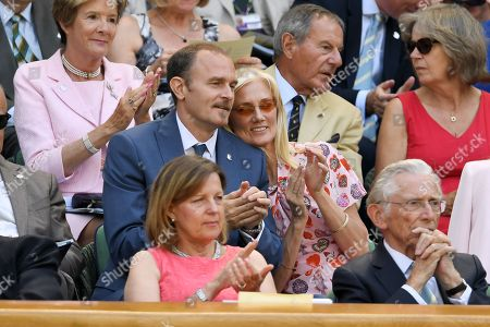 Carlo Nero and Joely Richardson in the Royal Box