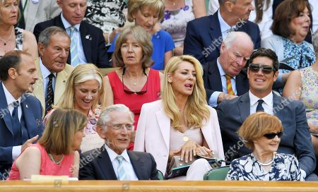 Carlo Nero, Joely Richardson, Tess Daly and Vernon Kay in the Royal Box