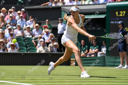 Naomi Broady in action during her Ladies' Singles first round match