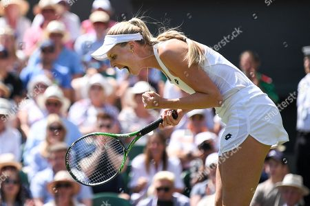 Naomi Broady during her Ladies' Singles first round match