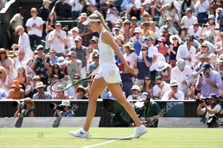 Naomi Broady after defeat in her Ladies' Singles first round match