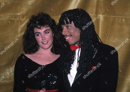 Rick James and Laura Branigan Attending the Urban Contemorary Music Awards at the Savoy Hotel in New York City Januery 21 1983
