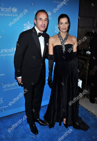Matt Lauer & Annette Roque Pictured at the Unicef 2008 Snowflake Ball at Cipriani's On 42nd Street in New York City On December 3 2008  United States New York City