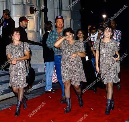 Washington Dc Usa October 3 1993 Tom Arnold and Comedian Roseanne Barr Arrives at the Grand Opening of the Planet Hollywood Night Club with Tom Arnold and Kim Sliva (r) United States Washington