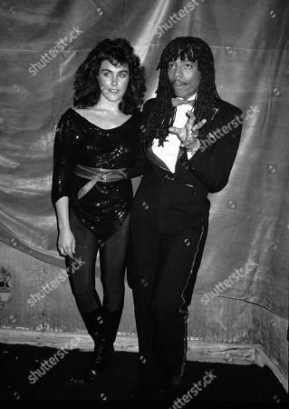 Rick James and Laura Branigan Attending the Urban Contemorary Music Awards at the Savoy Hotel in New York City January 21 1983 Usa New York City