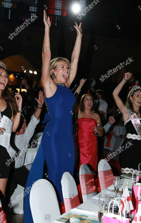 Kirsty Heslewood Miss England 2014 watching the penalties in the Engalnd foot ball match at the Miss England Semi Finals 2018