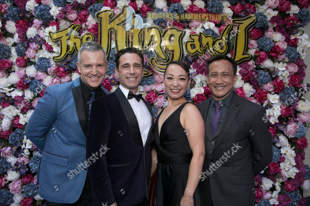 Stephen Ridley (UK Musical Director), Christopher Gattelli (Choreographer), Yuki Ozeki (US Assistant Choreographer) and Greg Zane (US Associate Choreographer)