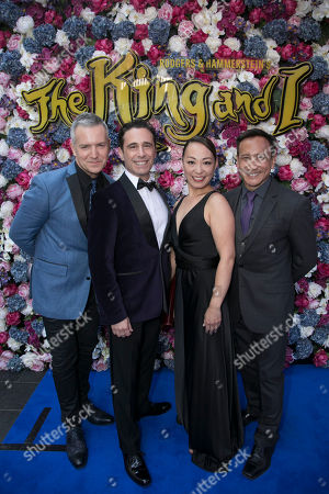 Stock Picture of Stephen Ridley (UK Musical Director), Christopher Gattelli (Choreographer), Yuki Ozeki (US Assistant Choreographer) and Greg Zane (US Associate Choreographer)