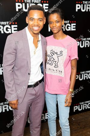 Joivan Wade and Letitia Wright