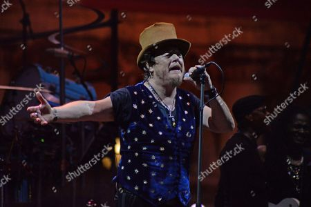 Italian singer Zucchero performs on the stage at San Marco square in Venice, 03 July  2018.