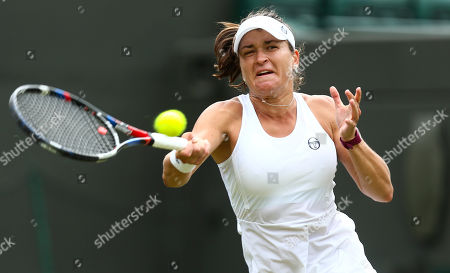 Stock Picture of Alexandra Dulgheru in action during her Ladies' Singles second round match
