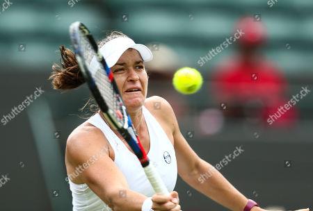 Alexandra Dulgheru in action during her Ladies' Singles second round match