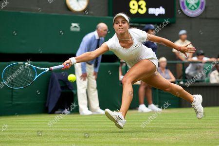 Viktoriya Tomova during her Ladies' Singles second round match