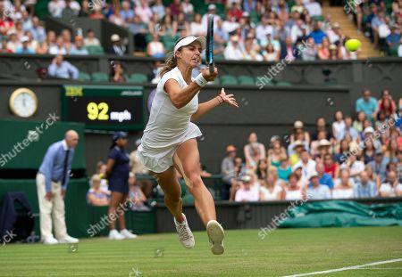 Stock Photo of Viktoriya Tomova during her Ladies' Singles second round match