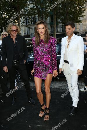Peter Dundas, Alessandra Ambrosio and Evangelo Bousis