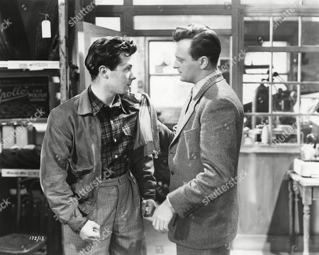 Bryan Forbes, as Ted Reid, and Patric Doonan, as Johnny Burrows