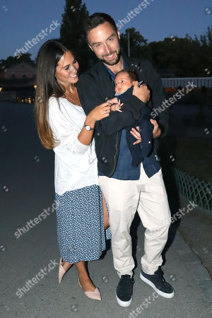 Mans Zelmerlow with his girlfriend Ciara Janson and their son Albert