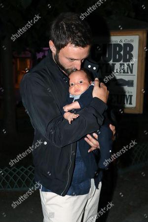 Mans Zelmerlow with son Albert