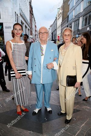 Kristina Blahnik and Manolo Blahnik at his men's store opening